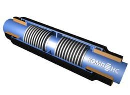 Сильфонный компенсатор 2СКУ.ППУ-25-600-400